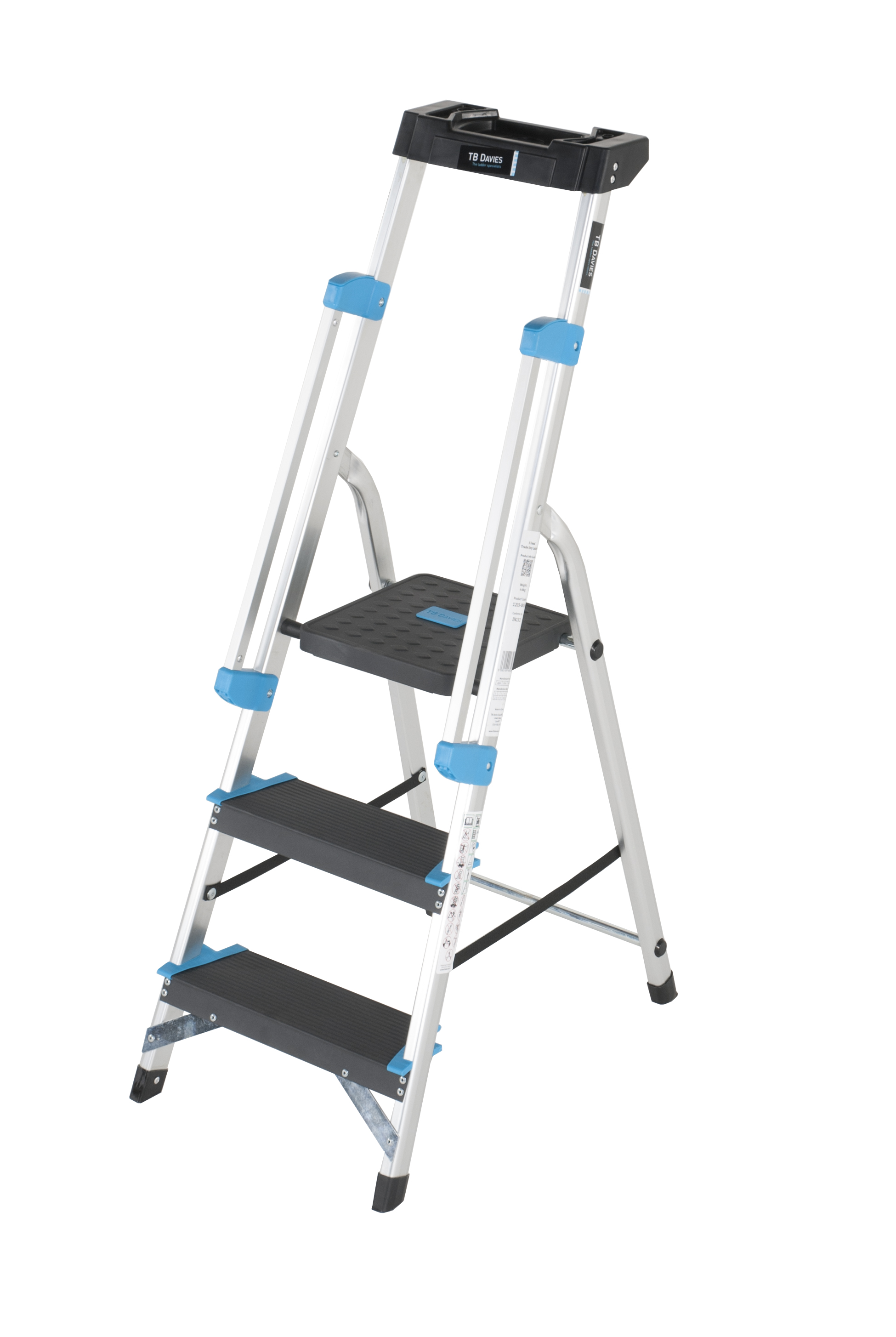 3 Tread Professional Platform Step With Handrails
