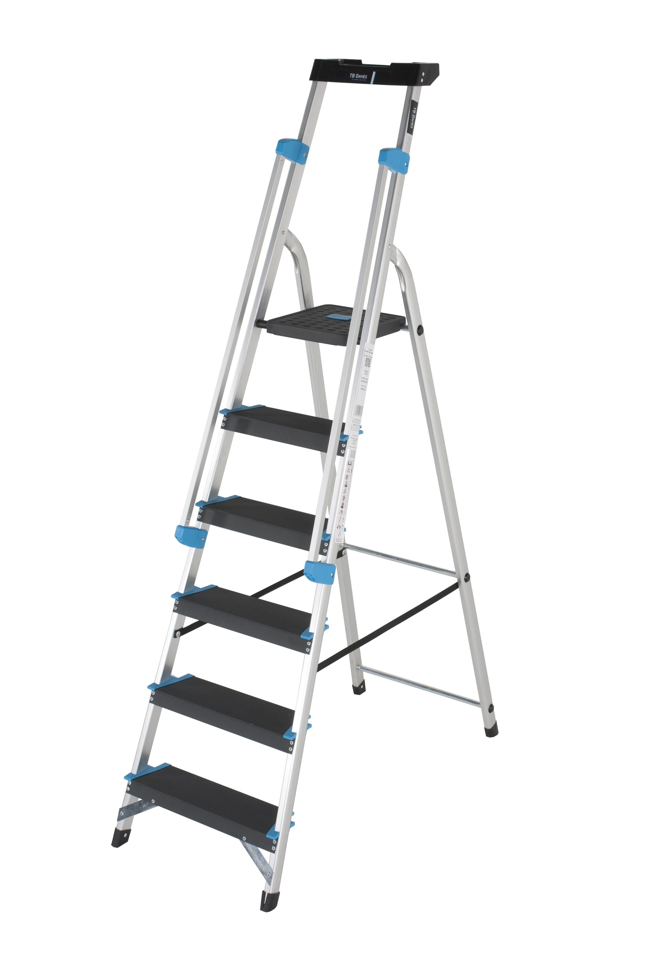 6 Tread Professional Platform Step With Handrails