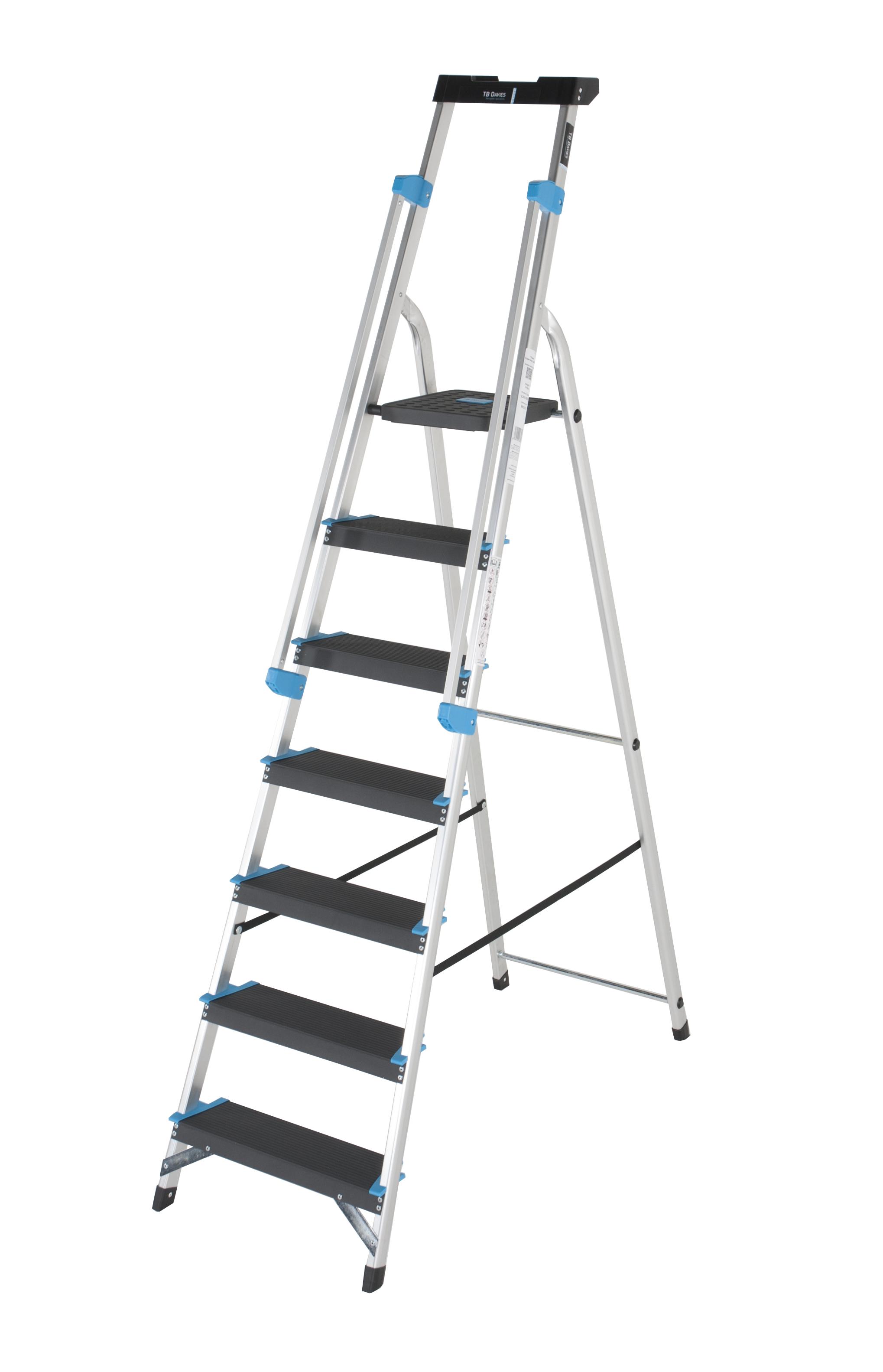 7 Tread Professional Platform Step With Handrails