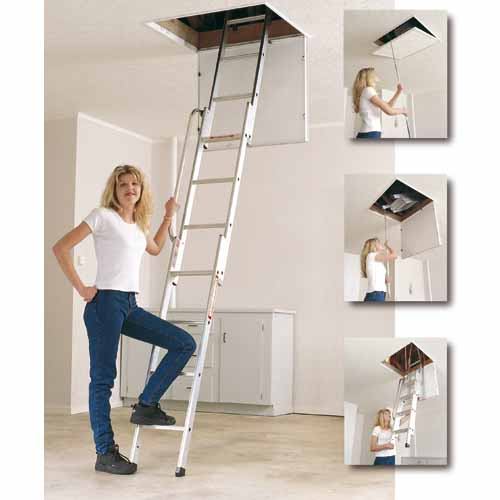 Youngman Easiway 3 Section Alloy Loft Ladder