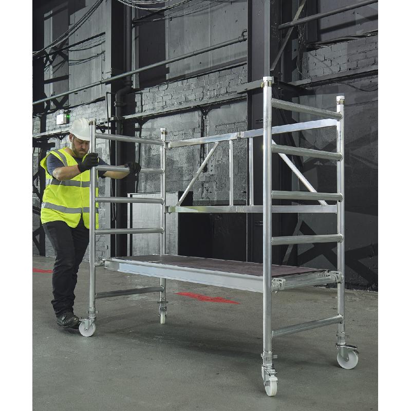 Ideal For Caravan Cleaning 1.2m 4.8m Workware Aluminium Tripod Ladders