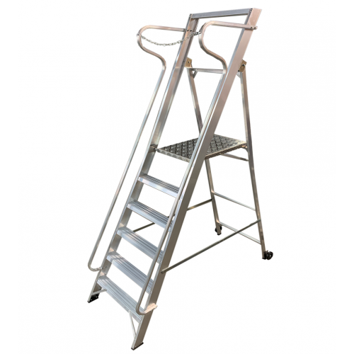 Professional 5 Tread Wide Step with Handrails