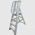 Professional 4 Tread Heavy-Duty Platform Step with Handrails