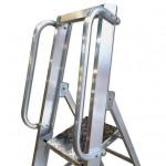 Professional 8 Tread Heavy-Duty Platform Step with Handrails