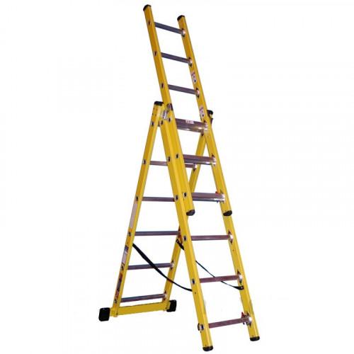 7 Rung Fibreglass Combination Ladder