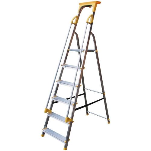 Supa-Step 6 Tread EN131 Step with Dual Handrails