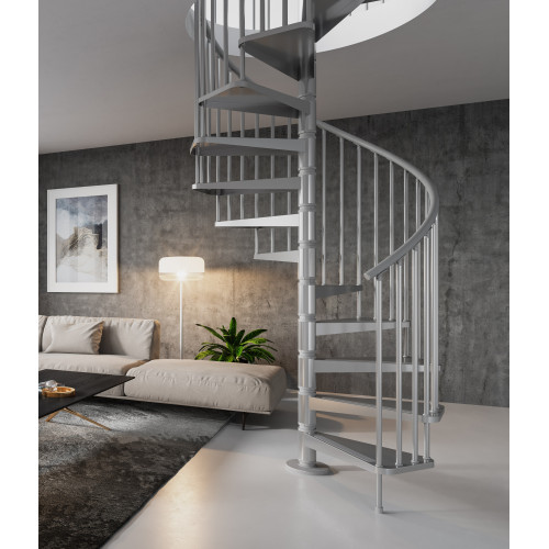 The Gamia 120cm (47in) Spiral Staircase (Silver-Grey)