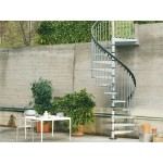 Civik Zinc 140cm (55in) Galvanised Spiral Staircase