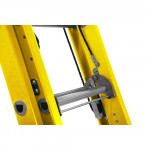 Werner 3.9m  2 Section Rope Operated Fibreglass Ladder