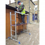 Multi-Purpose Scaffold & Ladder System with Handrail