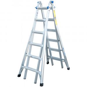 Werner 6 Rung Telescopic Combination Ladder