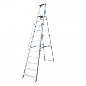 Professional 12 Tread Heavy-Duty Platform Step with Handrails