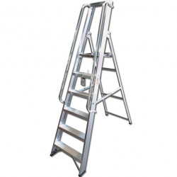 Professional Heavy Duty Alloy Platform Steps with Handrails