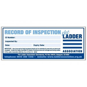 50 Record of Inspection Labels