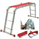 WERNER 12-way Multi Purpose Folding Ladder with platform
