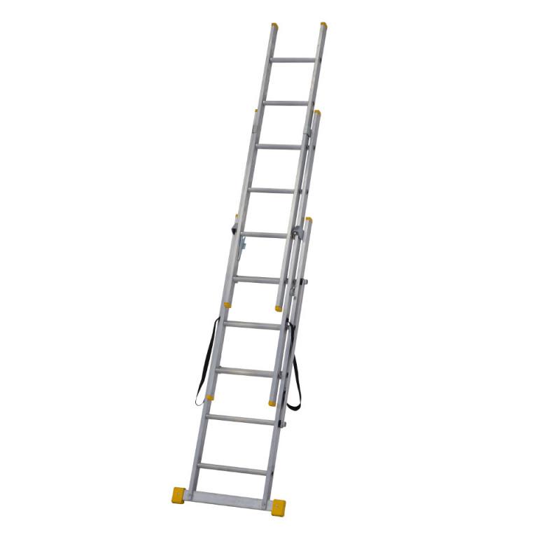 Midland Extendable Aluminum Ladders : Werner m extension plus combination ladder
