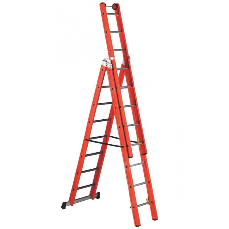 10 Rung Fibreglass Combination Ladder