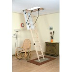 Drabest 550 Wooden Loft Ladder with Handrail