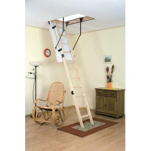 Drabest 550 Wooden Loft Ladder with Handrail