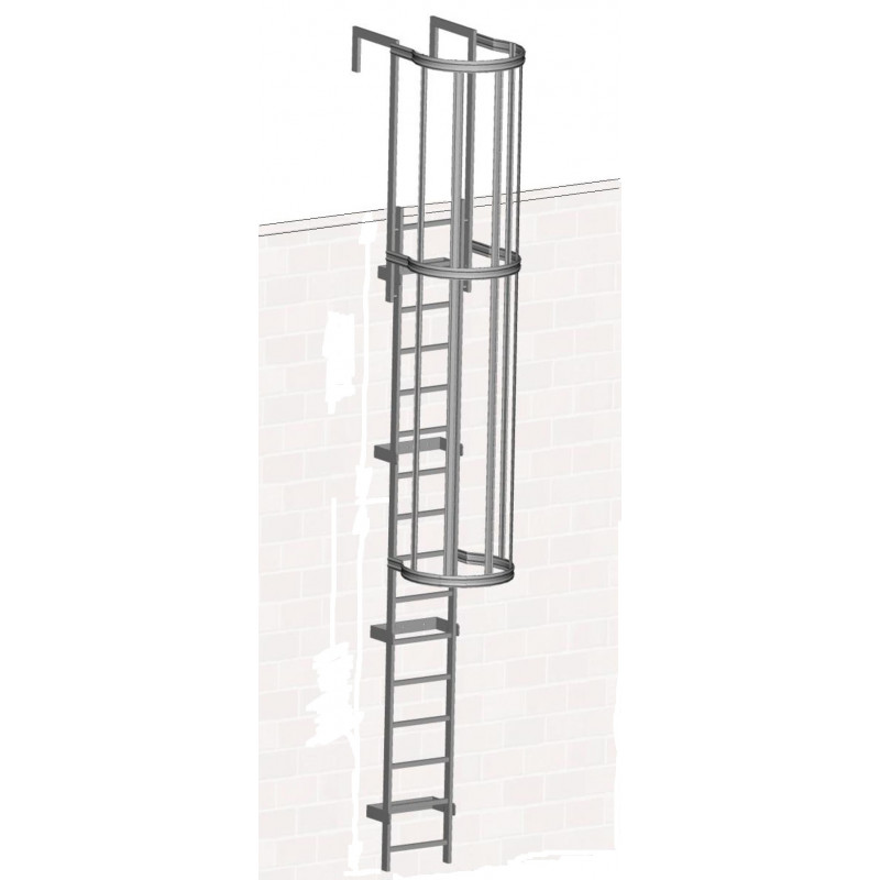 Zarges Fixed Ladder 7.41m with safety cage