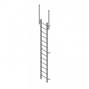 Zarges Fixed Ladder 3.64m with walk through stile extensions