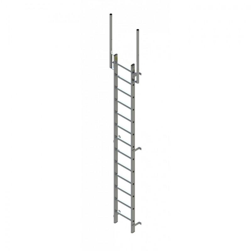 Walk Thru Ladder : Zarges fixed ladder m with walk through stile extensions