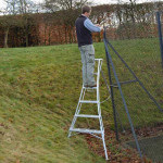 HENCHMAN Platform Tripod Ladder 3.6m with 3 adjustable legs