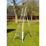 HENCHMAN Platform Tripod Ladder 2.4m with 3 adjustable legs