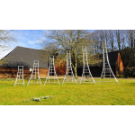 HENCHMAN Platform Tripod Ladder 4.8m with 3 adjustable legs