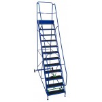 13 Tread Extra-Wide Industrial Mobile Safety Step