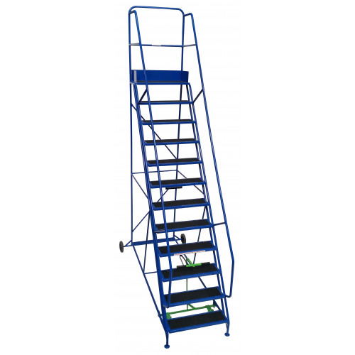 11 Tread Extra-Wide Industrial Mobile Safety Step