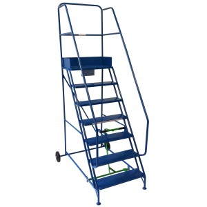 8 Tread Extra-Wide Industrial Mobile Safety Step