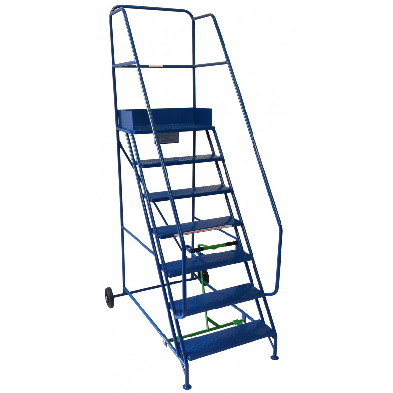 10 Tread Extra-Wide Industrial Mobile Safety Step