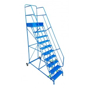 15 Tread Heavy-Duty Industrial Mobile Safety Step