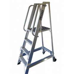 4 Tread Aluminium Warehouse Stepladder