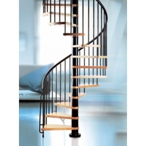 The Klan 140cm (55in) (Black) Spiral Staircase