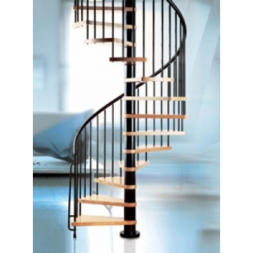 The Klan 160cm (63in) (Black) Spiral Staircase