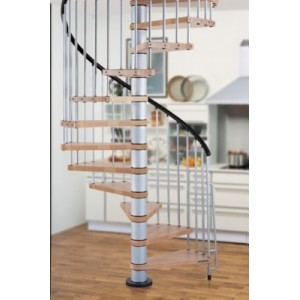 The Klan 140cm (55in) (Grey) Spiral Staircase
