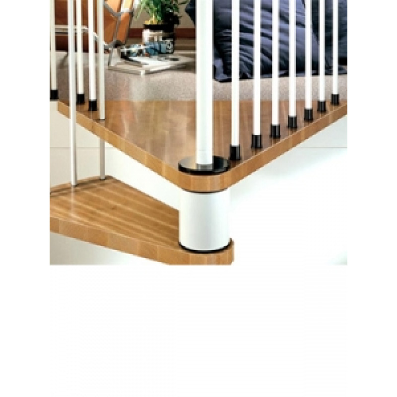 The Klan 120cm (47in) (White) Spiral Staircase