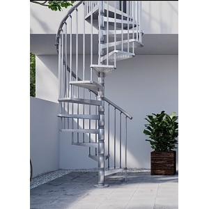 Civik Zinc 160cm (63in) Galvanised Spiral Staircase