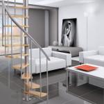 Dolle 'Calgary' grey spiral staircase 120cm