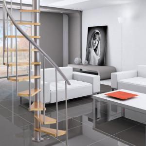 Dolle 'Calgary' grey spiral staircase 140cm