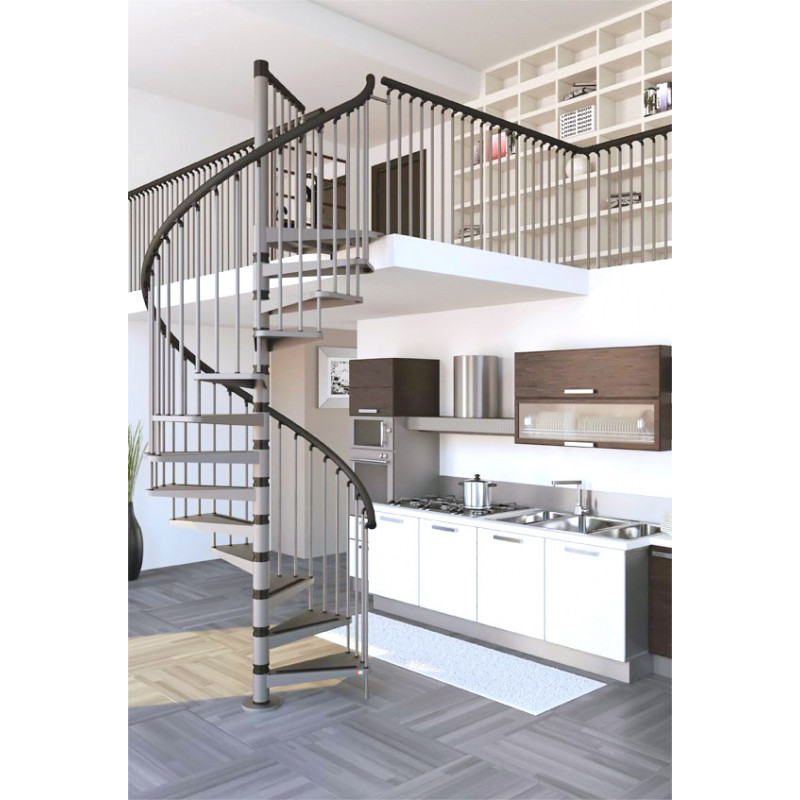 The Gamia 120cm (47in) Spiral Staircase (Silver)