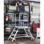 Zarges Mobile Work Platform 3 Tread Double sided