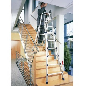 6 rung Zarges Waku Telescopic Ladder/Step