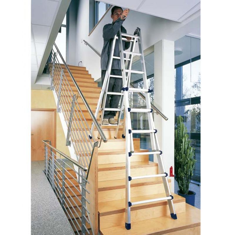 4 Rung Zarges Waku Telescopic Ladder Step