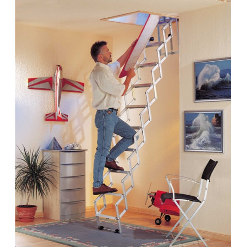 Alufix Concertina Loft Ladder (10 tread)