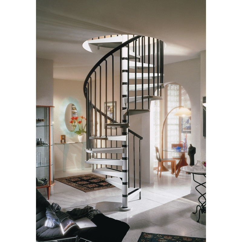 The Gamia 160cm (63in) Spiral Staircase (Light grey)