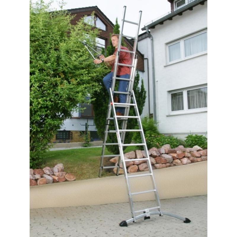 3.5m Hailo Self-levelling combination ladder