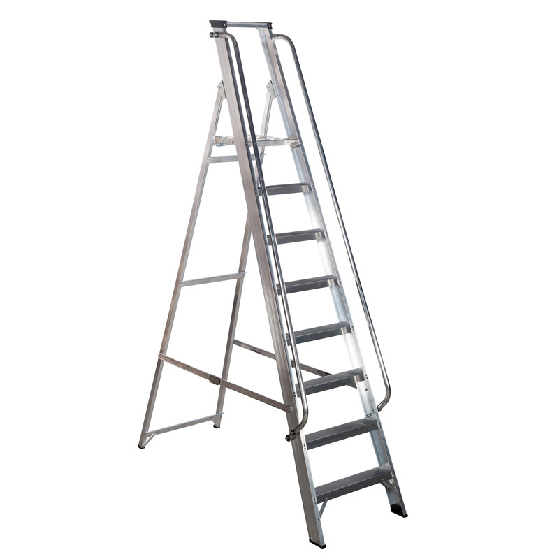 5 Tread Werner Class 1 Shop Step with Handrails